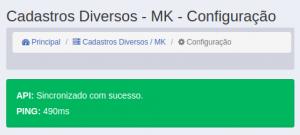 Cadastros Diversos - MK - Configuração