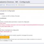 Cadastros Diversos - MK - Configuração do Servidor