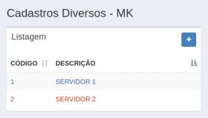 Cadastros Diversos - Servidores MK - Migração
