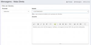 Mensagens - Mala Direta - Filtro - Modelo Customizado
