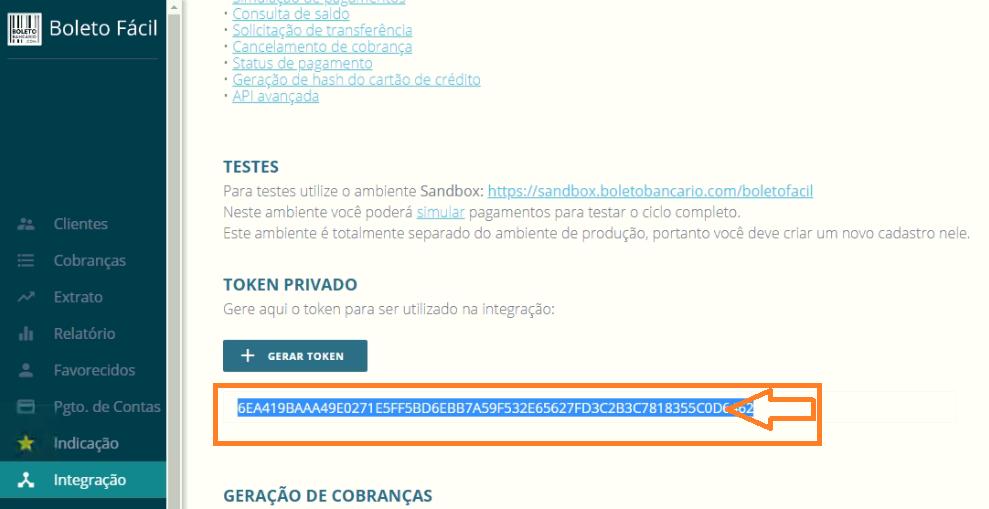 Informe para o suporte no grupo no WhatsApp do ReceitaNet da sua empresa as informações do Token, conforme a imagem ao lado.